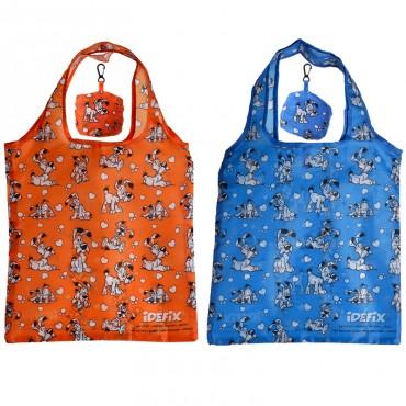 Handy Fold Up Asterix Idefix (Dogmatix) Shopping Bag with Holder