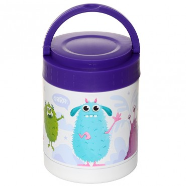 Monstarz Monster Stainless Steel Insulated Food Snack/Lunch Pot 400ml
