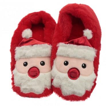 Christmas Santa Microwavable Heat Wheat Pack Slippers