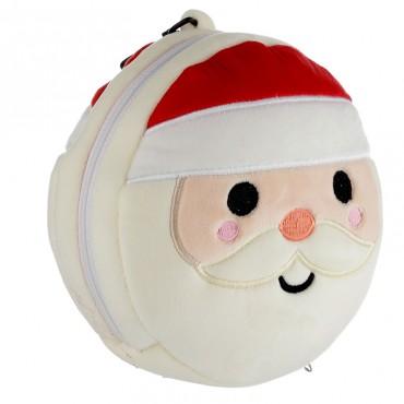 Christmas Santa Relaxeazzz Plush Round Travel Pillow & Eye Mask Set