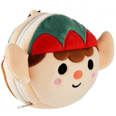 Christmas Elf Relaxeazzz Plush Round Travel Pillow & Eye Mask Set