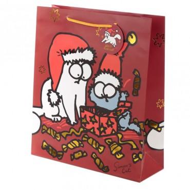 Simon's Cat Christmas Extra Large Gift Bag