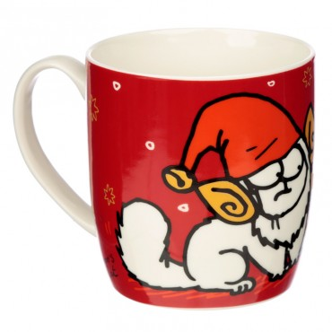 Christmas Porcelain Mug - Simon's Cat