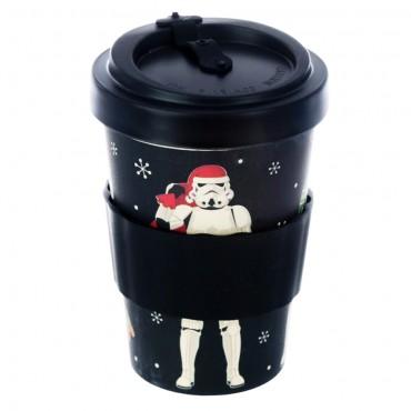 Bamboo Composite The Original Stormtrooper Christmas Black Screw Top Travel Mug