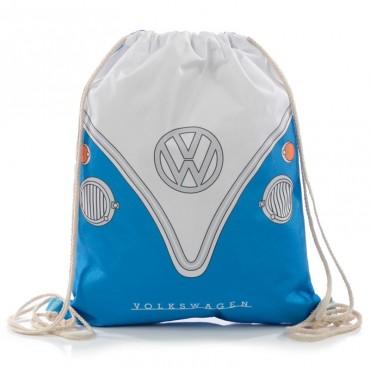 Volkswagen VW T1 Camper Bus Blue  Gym Bag