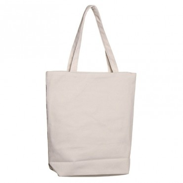 Feline Fine Cat Reusable Zip Up Cotton Bag