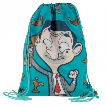 Mr Bean Teddy Bear Cartoon Drawstring Bag