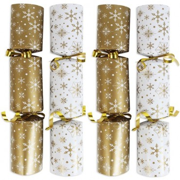 Gold & Cream Catering Christmas Crackers - 25cm (100pk)