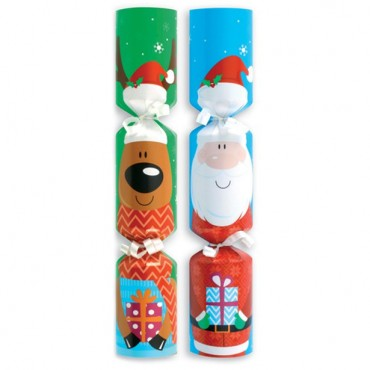 Santa & Friends Mini Christmas Crackers - 20cm (9pk)