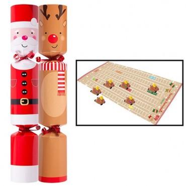 "Racing Reindeers Christmas Crackers - 12"" (6pk)"