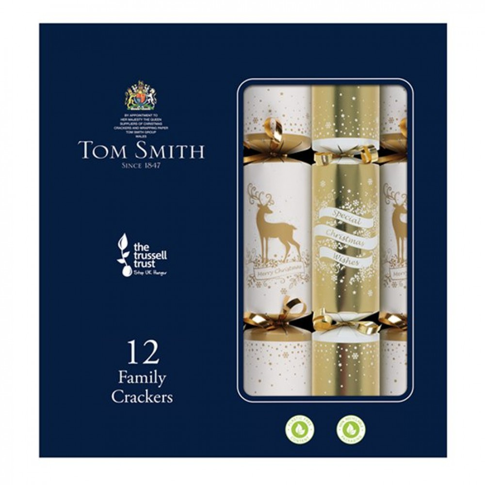 Tom Smith Premium Gold and Cream Christmas Crackers (each)