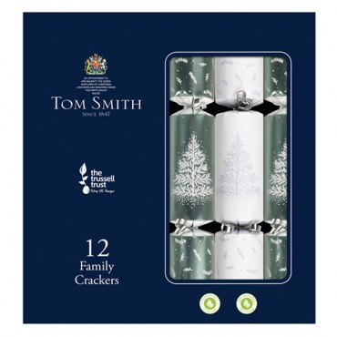 Tom Smith Premium Silver and White Christmas Crackers (each)