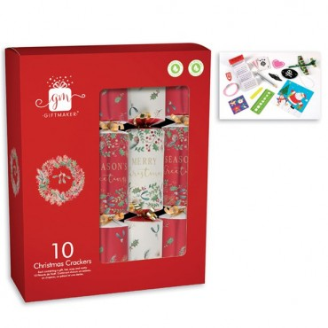 Traditional Christmas Crackers - 30cm (10pk)