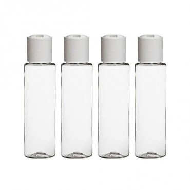 100ml Flip-top Empty Bottles - Clear Plastic