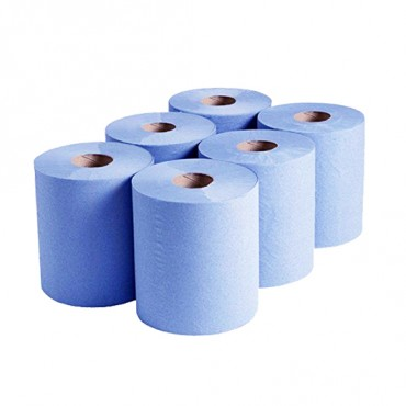 High Quality 2ply Blue Roll - Pack of 6