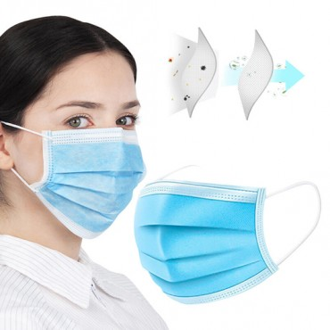 50pk Surgical Face Masks - 3ply