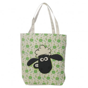 Shaun the Sheep Food Pattern Reusable Zip Up Cotton Bag