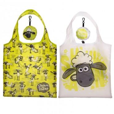 Shaun The Sheep Foldable Reusable Shopping Bag - Aardman