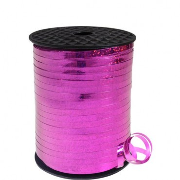 Hot Pink Holographic Curling Balloon Ribbon - 228m (each)