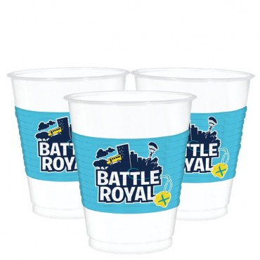 Battle Royal Plastic Cups - 473ml (8pk) 4212412