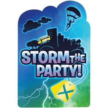 Battle Royal Party Invitations (8pk) 492412