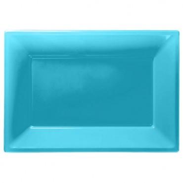 Turquoise Serving Platters - 23cm x 32cm Plastic 997439