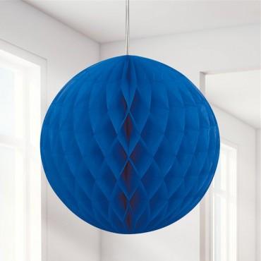 Royal Blue Honeycomb Ball Decoration - 20cm (each) 64253