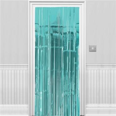 Turquoise Foil Curtain - 2.4m (each) 24200-54