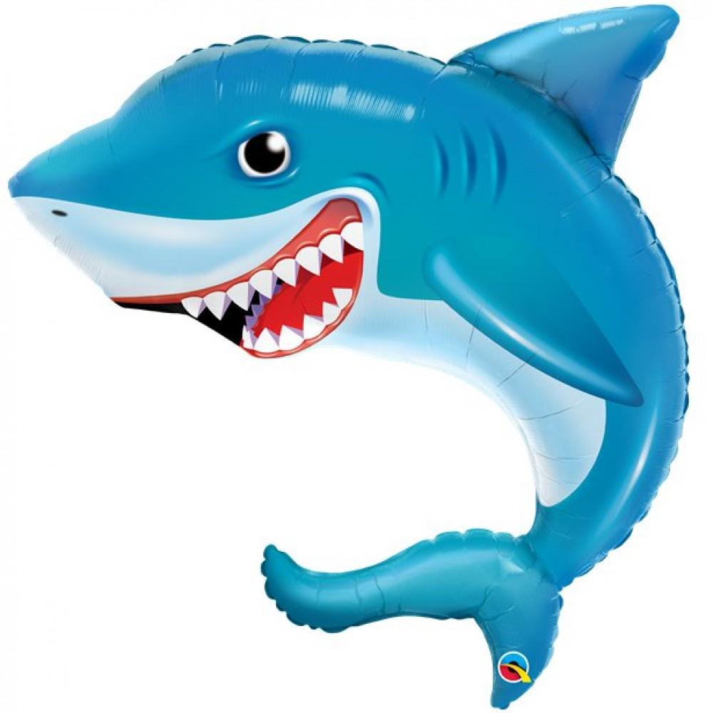 """Shark Supersize Balloon - 36"""" Foil"""