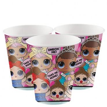 L.O.L Surprise Paper Cups - 256ml (8pk) 79116