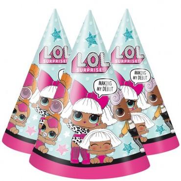 L.O.L Surprise Paper Party Hats (8pk) 79121