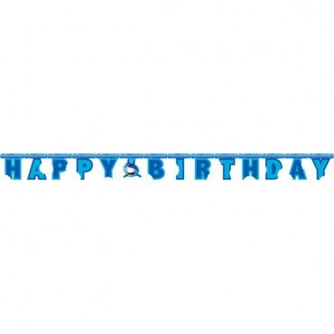 Shark Party Letter Banner - 8ft