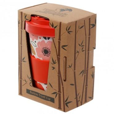 Poppy Fields Travel Mug - Bamboo Composite