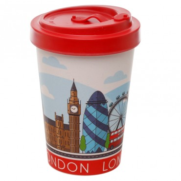 London Icons Travel Mug - Bamboo Composite