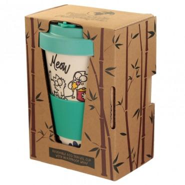 Simon's Cat Travel Mug - Bamboo Composite