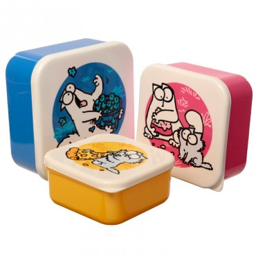 Simon's Cat 3pc Lunch Boxes - Bamboo Composite