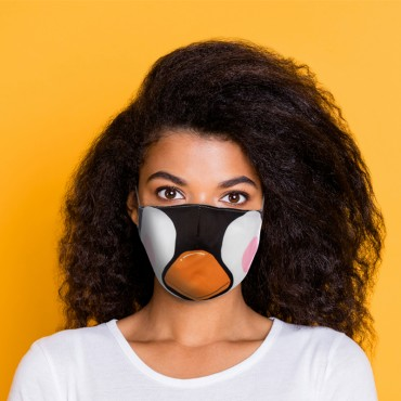 Cutiemals Penguin Reusable Face Covering - Large