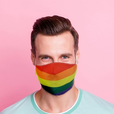 Rainbow Reusable Face Covering - Large