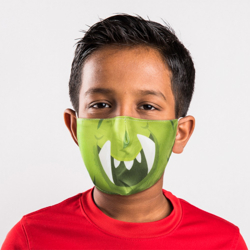 Monstarz Green Monster Reusable Face Covering - Small