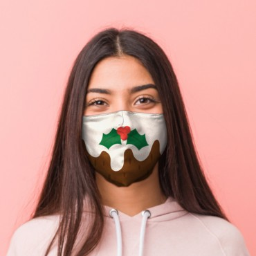 Christmas Pudding Face Covering - Large