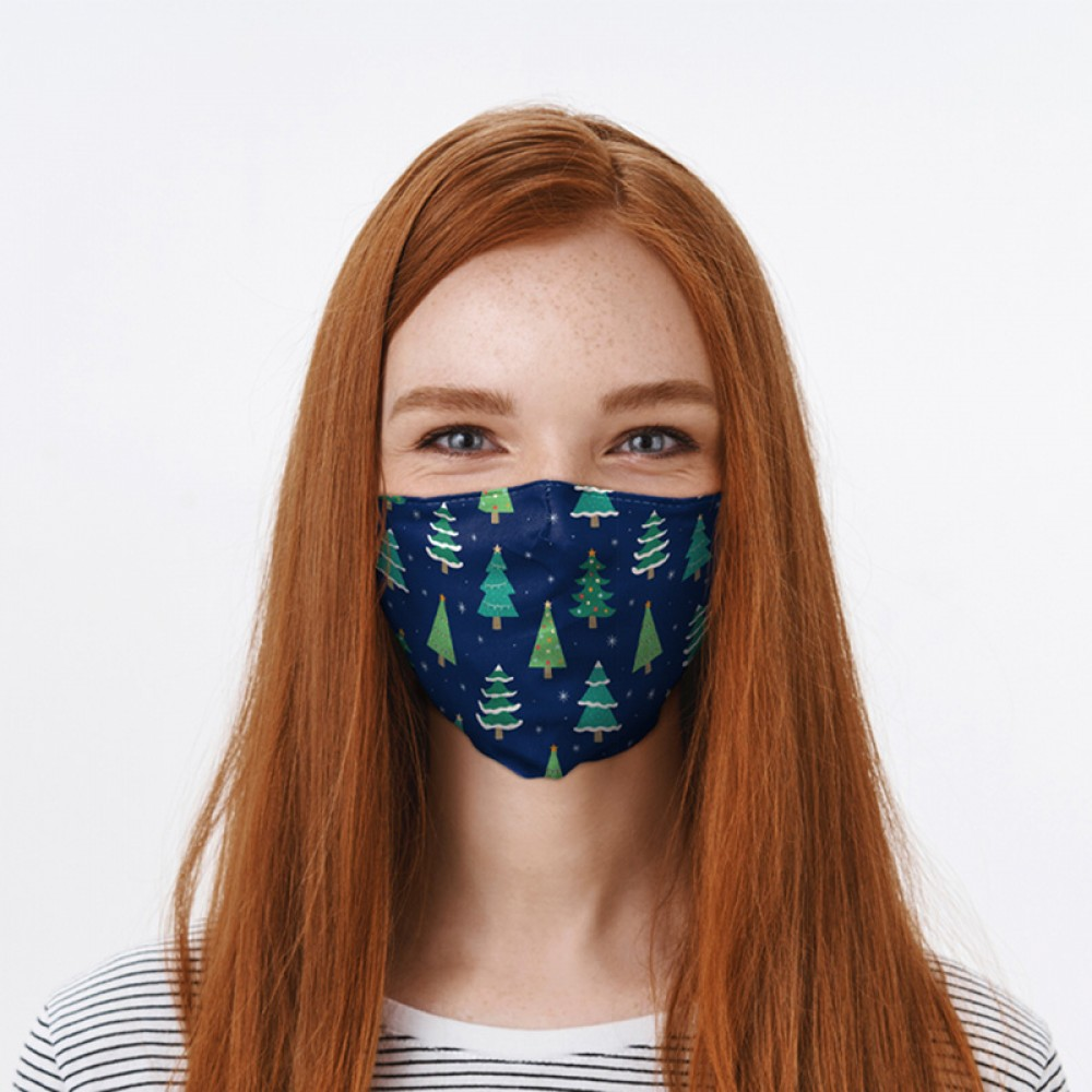 Christmas Trees Face Covering - Large