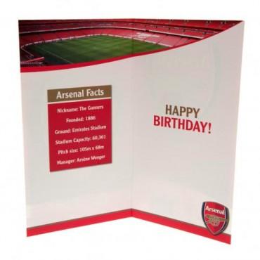 Arsenal FC Birthday Card No 1 Fan