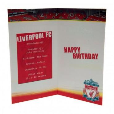 Liverpool FC Birthday Card No 1 Fan