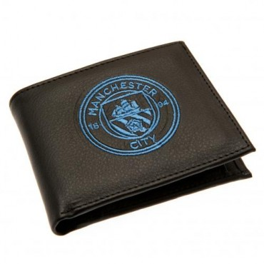 Manchester City FC Crest Embroidered PU Leather Wallet