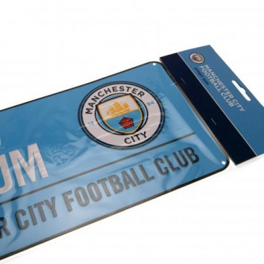 Manchester City FC Colour Street Sign