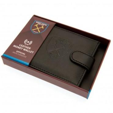 West Ham FC RFID Anti Fraud Leather Wallet