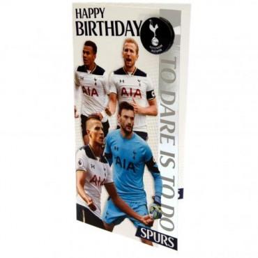 Tottenham FC Birthday Card & Badge EST