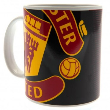 Manchester United FC Large Crest Ceramic Mug
