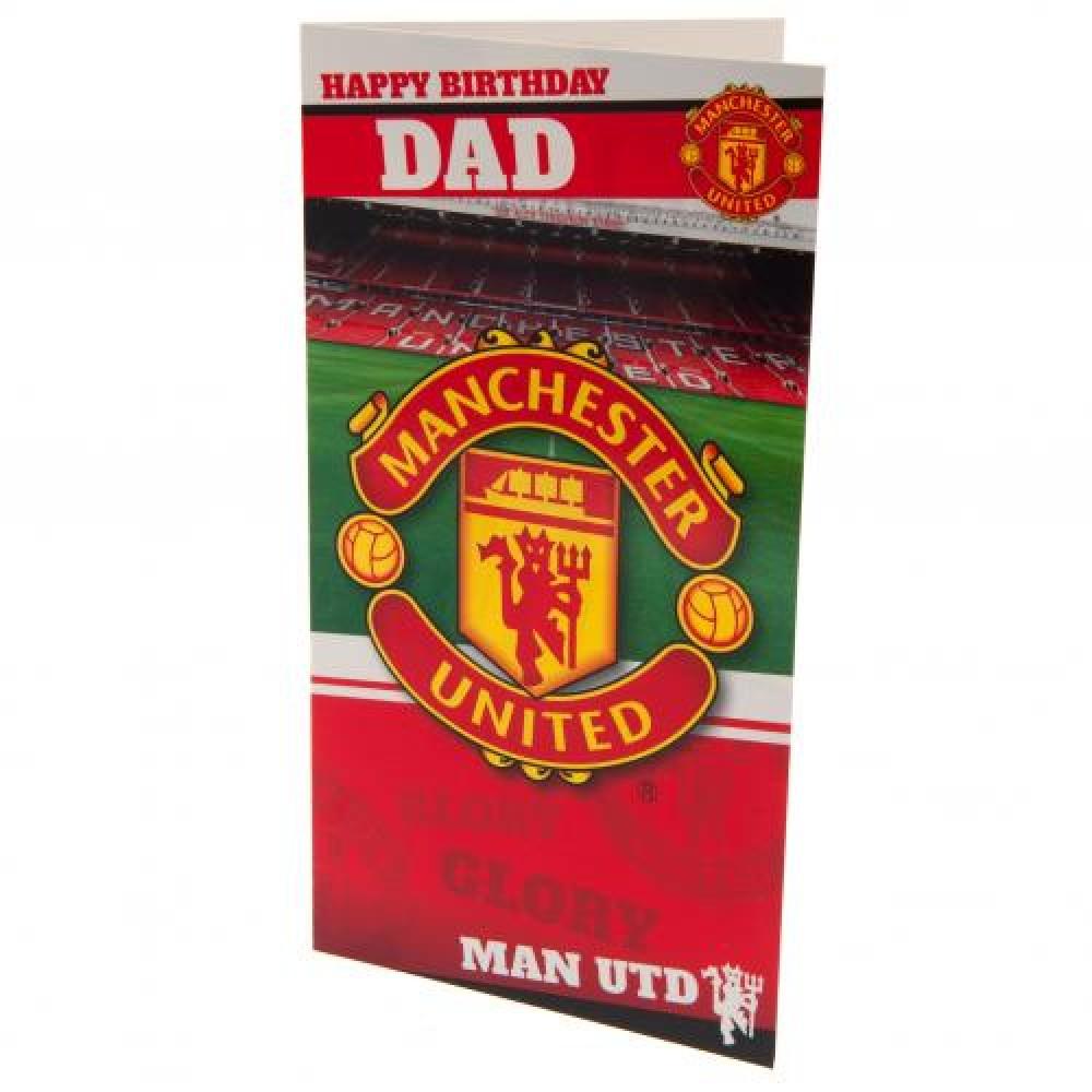 Manchester United FC Birthday Card Dad