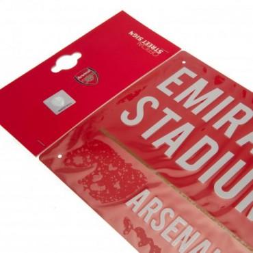 Arsenal FC Colour Street Sign